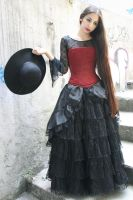 red corset5 by Harpist-Stock