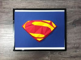 Superman Man of steel logo - 3D poster by davidtruong