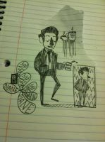 dale cooper doodles 1 by DamnFineCoffeeCoop