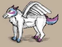 Custom Wolf with Wings by Fenere