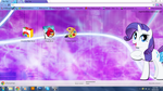 FiM: Rarity Chrome Theme by M24Designs