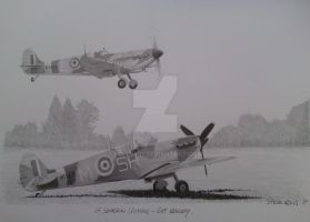 64 squadron spitfires by rollsy71