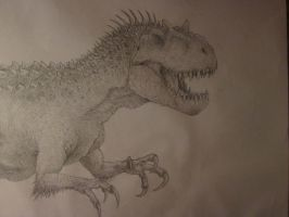 Indominus rex  concept drawing by anthonyhoogsteden