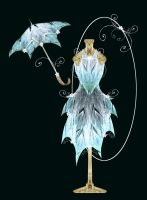 Ice Gown + Parasol by rockgem