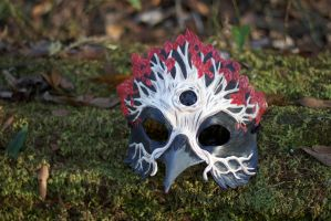 Three-Eyed Weirwood Crow Leather Mask by b3designsllc