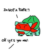 bulbasaur is not a turtle by Pikura