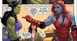 Hellbender and the She Hulk by Mastersandy