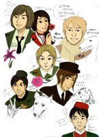 YugoHetalia faces by TwinsS