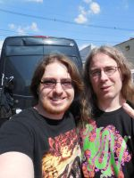Me with Alex Webster of Conquering Dystopia by metalheadrailfan