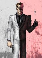 Two-Face - District Attorney turned Crime Boss by MattFriesen