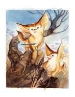 Fennec Foxes by blix-it