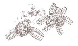 Magnemite and Magneton by RtRadke