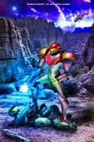 Samus Aran vs Master Chief by memetronic
