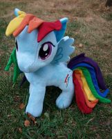 Funrise Rainbow Dash - Custom Mane, Tail by Agony-Roses