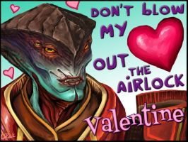 Mass Effect Valentine - Airlock by efleck