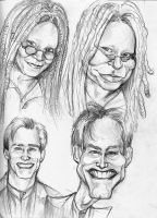 Caricature Sketches Page 2 by Carliihde