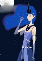 Humanized Princess Luna by chirin98