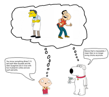 Brian and Stewie thinking about two perverts by darthraner83