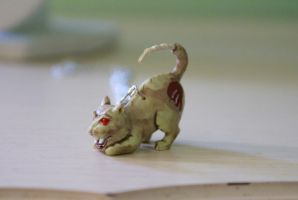 Zombie Kitty Necklace by foowahu-etsy