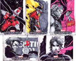MARVEL BEGINNINGS 3 SKETCH CARDS 6 by CRISTIAN-SANTOS