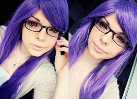 Rize Kamishiro (Tokyo Ghoul) Make Up Test by karinWaterproof