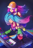 Arcade Sona and Miss Fortune by Hamzilla15