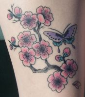 cherry blossom tat all healed by pauralotter14