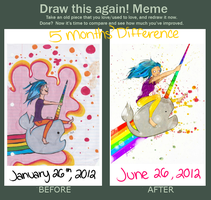 ReDraw This -5 Month Difference- by ForkNayon