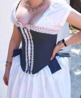 Tabbed Corset with Lace by salvagedsword