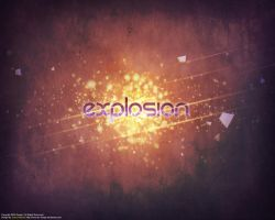 Explosion Typography by DRX-Design