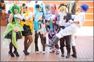 Vocaloid Group and Photobomber by WhenWasThisTaken
