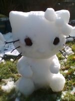 SNOW HELLO KITTY by lukkie