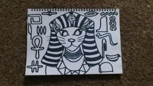 Egyptian Cat by fionachitauro