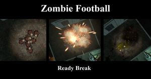 Zombie Football Huddle by Ghost141