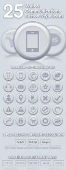 25 Comunication Icons by doghead