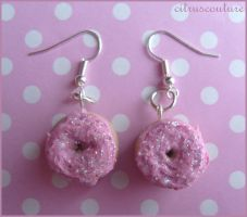 glitzy donut earrings by citruscouture