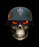German Nazi Soldier Skull by MrAngryDog