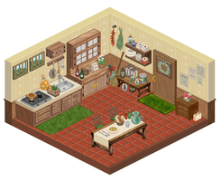 pixel kitchen by M-seiran