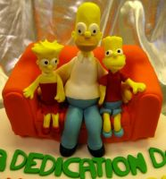 Simpson's Dedication Cake 002 by elyobkram