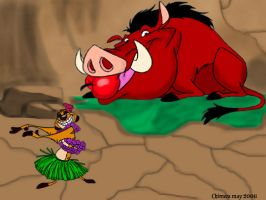 Timon and Pumba by Chimera9