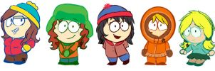 Genderbender South Park by DragonGoddess1
