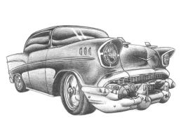 57' Chevy Belair by NeoZeroX