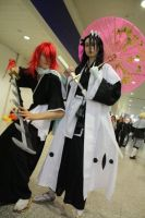 Byakuya + Renji at MCM Oct 09 by ruuwolf