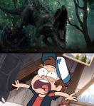 Dipper Pines Reacts To The Indominus Rex by DanielArkansanEngine
