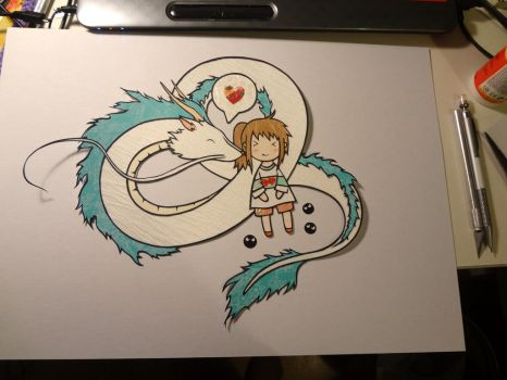 Haku and Chihiro: Paper fun final! by chunkyXD