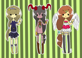 [Kois] Random Set 1 {CLOSED} by Mysteryy-Adopts