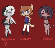 halloween adoptable batch 3 (closed) by Ika-Hime