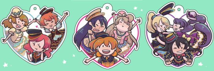 Love Live Clear Acrylic Charms! by OmiOhMy