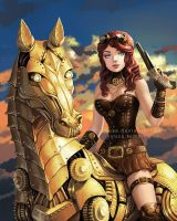 Steampunk horse by Yuuza