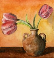 Pink Tulips by dancing-girl